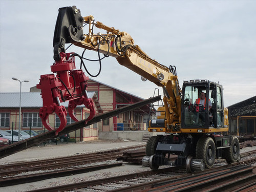 Railway Grab carrying rail