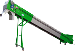 Green and Grey Conveyer for Scrap Wire Recycling Machine