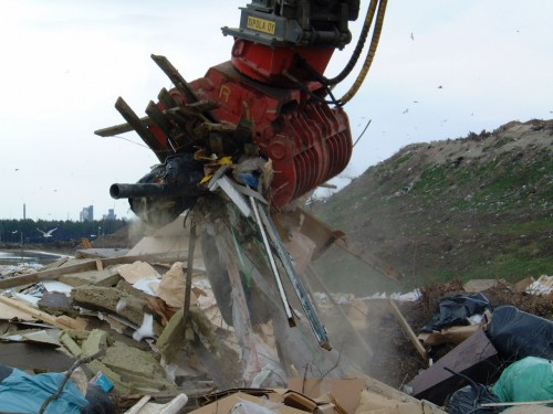 demolition grapple sorting demolition and scrap waste