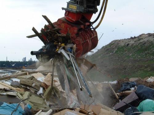 demolition grapple sorting demolition and scrap waste