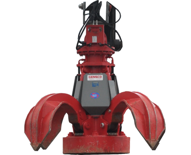 red scrap grapple with magnet