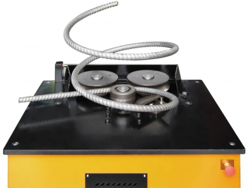Yellow Rebar Bending Machine for Spiral Hoops Table Top Only