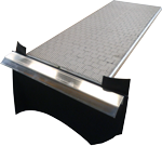 Black and Silver Vibrating Table for the Separation of Copper from Plastic